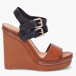 Chloe Tan & Black Platform Sandals